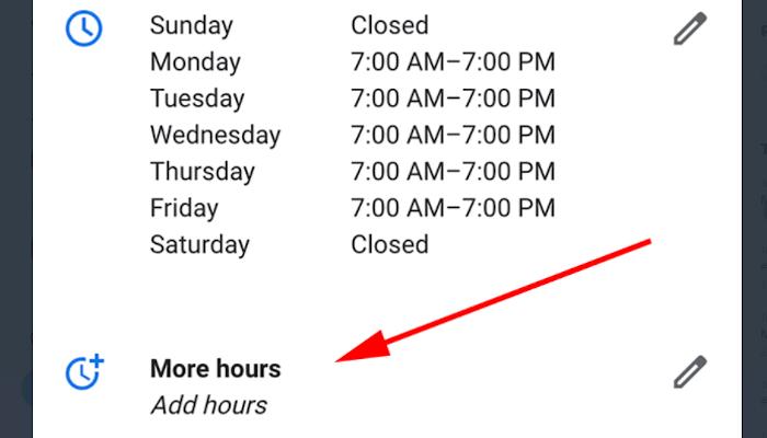 Google My Business erlaubt Anzeige von Spezial-Öffnungszeiten