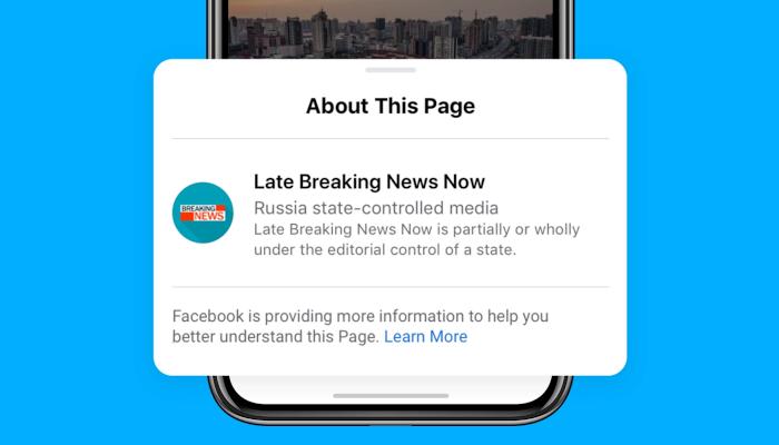 Facebook verpasst staatlich kontrollierten Medien ein Label – und verweigert ihnen bald Ads