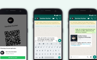 WhatsApps neue Business Features: Produkt-Links teilen und Chats per QR Code starten