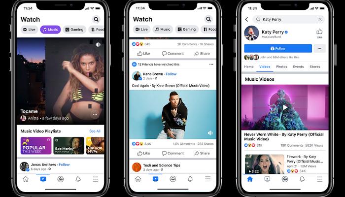 Facebook führt Musik-Video-Playlists für Watch ein