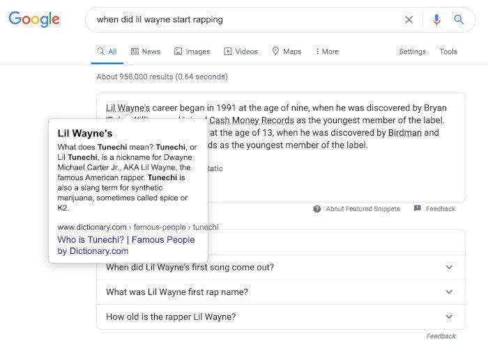Google testet mehrere Kontext-Links im Featured Snippet