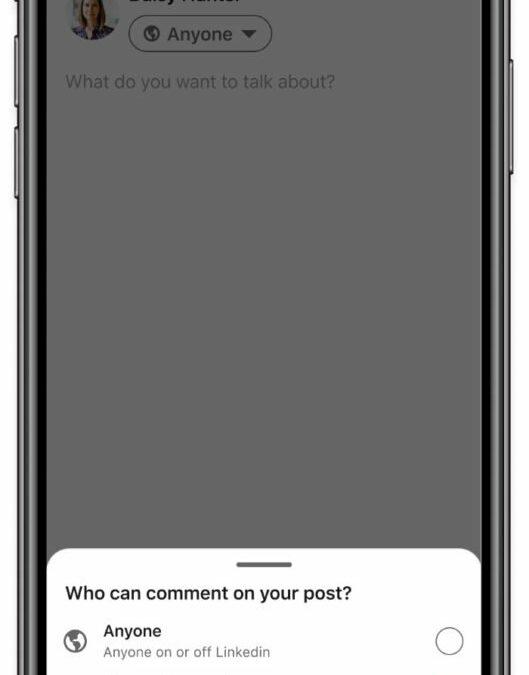 LinkedIn: Neues Feature erlaubt Einschränken von Kommentaren