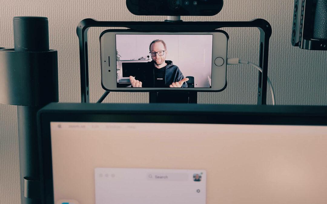 Das iPhone als Kontrollmonitor für Videokonferenzen