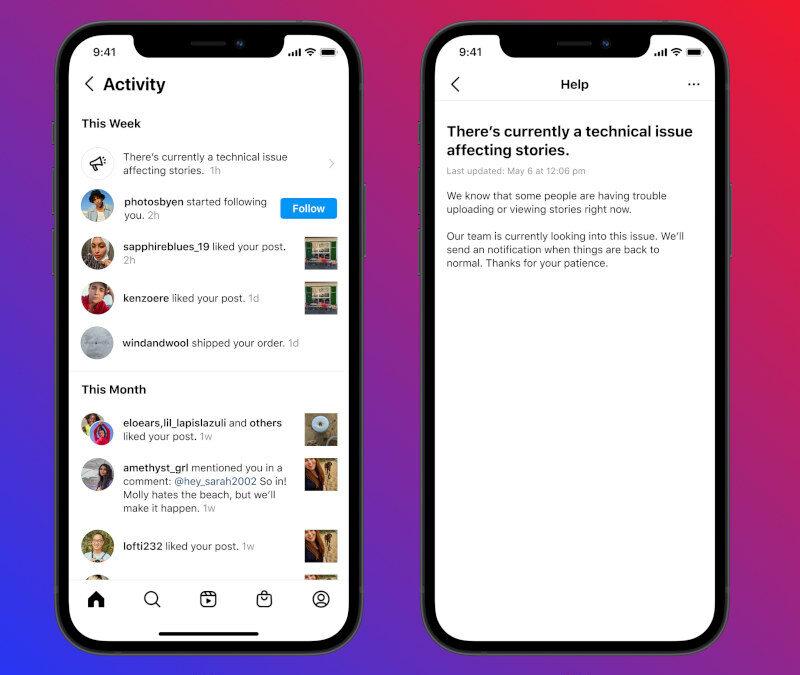 Nach Ausfall: Instagram führt In-App-Benachrichtigung für mehr Transparenz ein